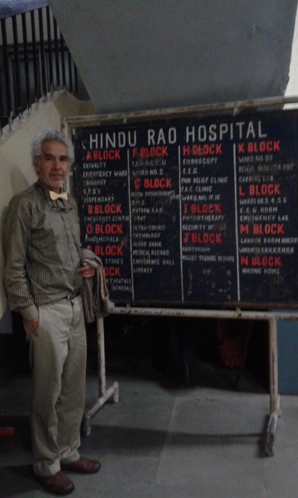 At the Hindu Rao Hospital in Dehli