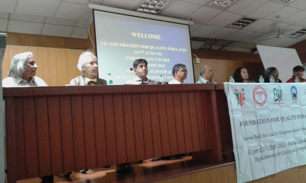 At the inaugural ceremony of the course on Quality Control for Laboratories under the direction of Dr. Thuppil Venkatesh