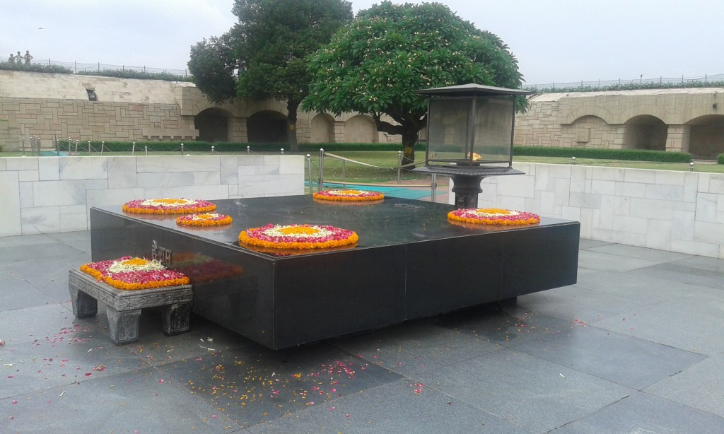 Mahatma Ghandi's beautiful, peaceful Tomb memorial in Dehli