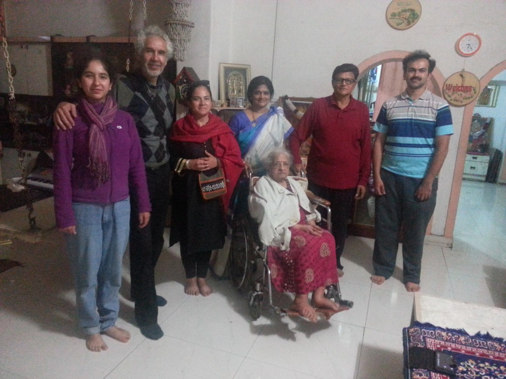 At K. Raghunath's house where we heard the most beautiful Indian music.
