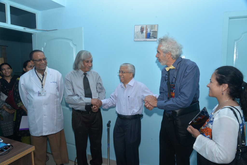 A special moment with Prof. Thuppil Venkatesh and Prof. Kusal Das.