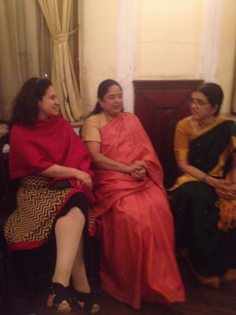 Lucrecia De Urioste with Mrs. Bhagya Tagore and Prabha Venkatesh