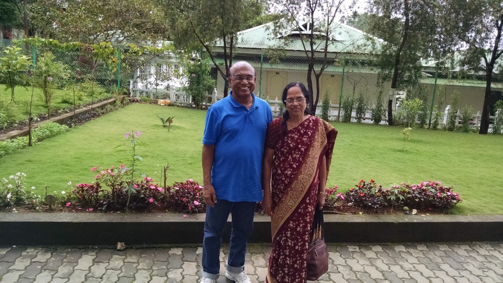 T.A. Varky, the President of the Lions Club in Kochi and also the director of several Clinical Laboratories. Alongside is Sarada Varkey, his wife.