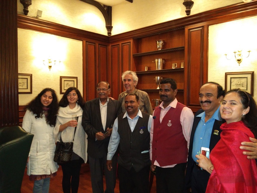 The outstanding dinner reception at the exclusive Bangalore Club
