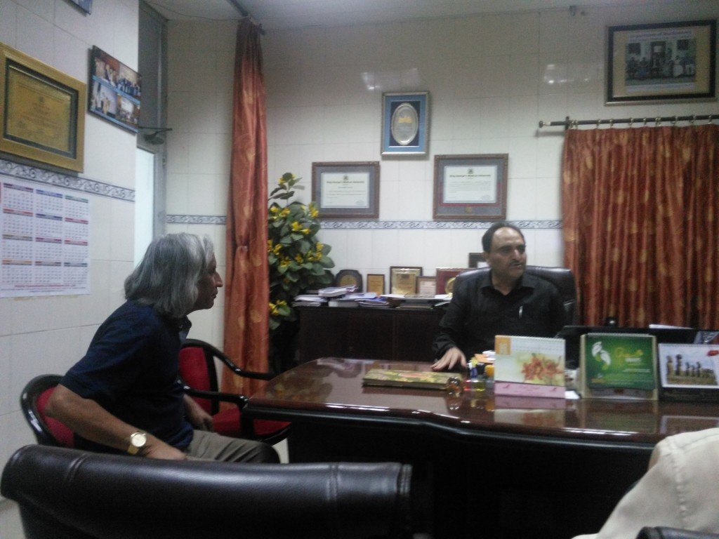 Visiting Prof. Abbas Ali, Head of the Department of Biochemistry at King George's University, Lucknow