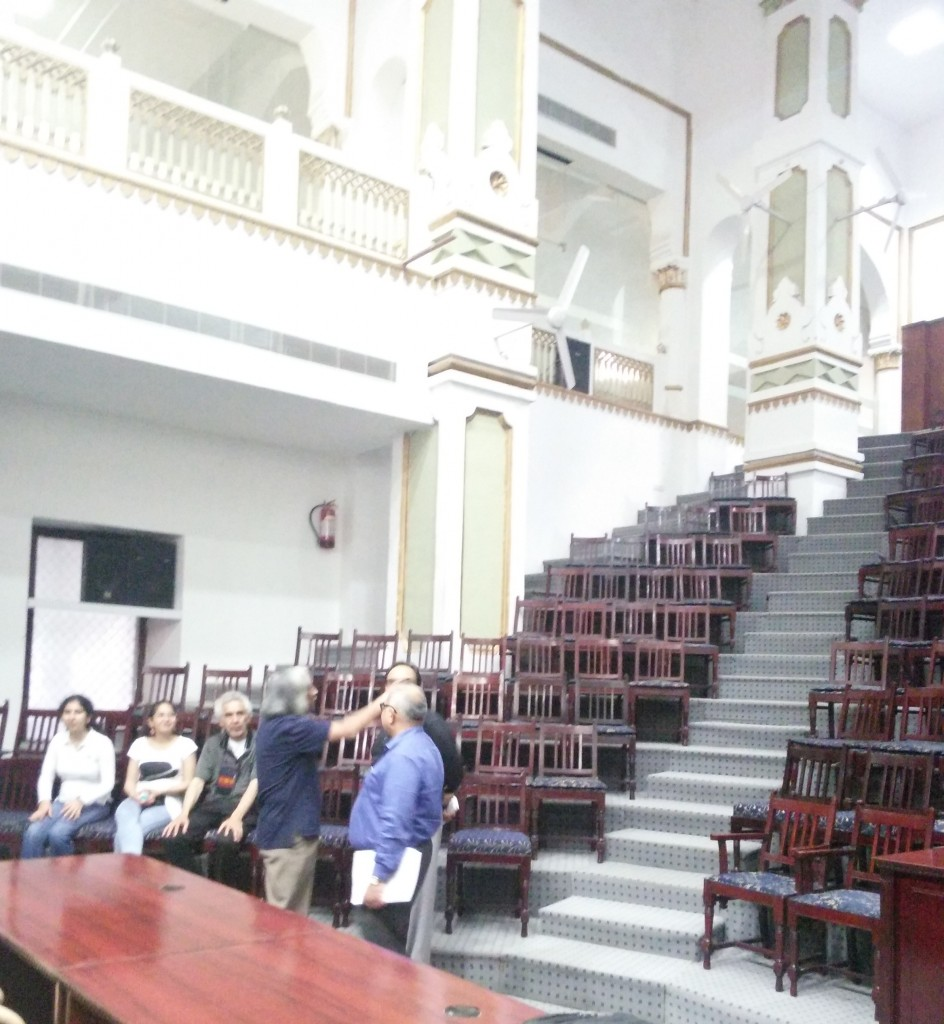 Visiting the beautiful central offices auditorium at King George's University