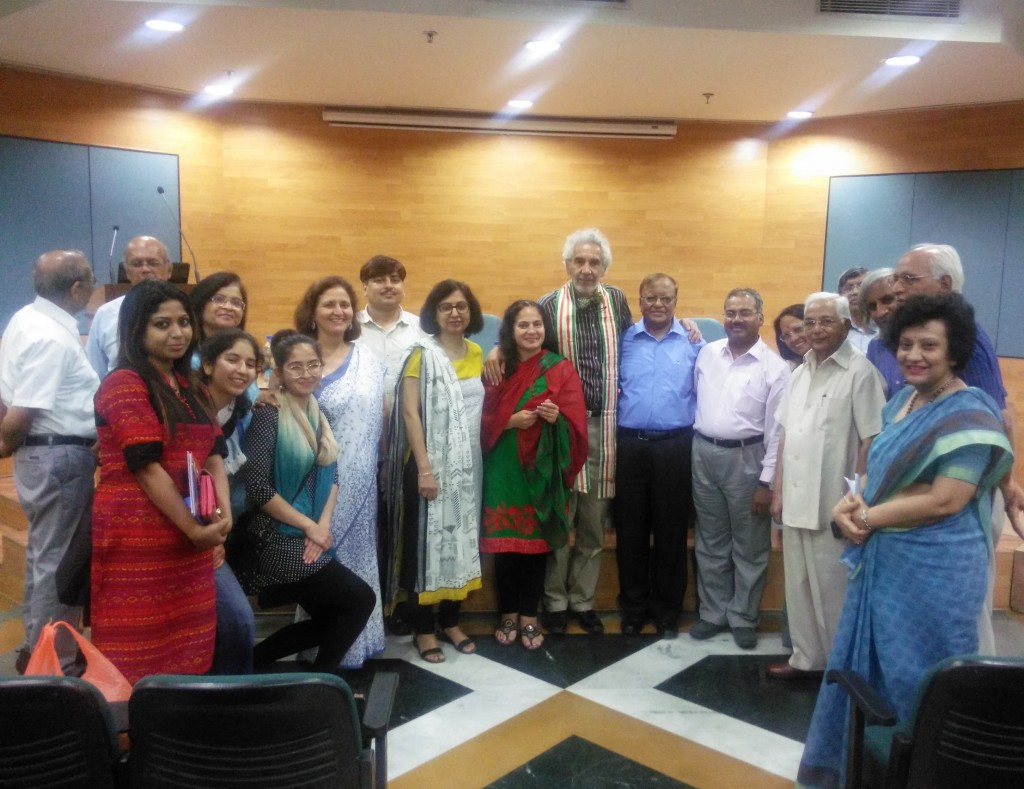 Post Conference group photo at DIPAS. Note that Prof. Dr. Gustavo Zubieta-Calleja is wearing an Silk Honor Scarf awarded by Dr. Srivastava previously.