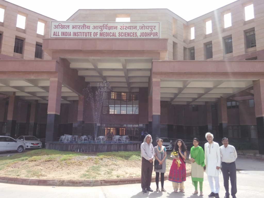 At the AIIMS - Jodhpur after the conference, The Zubietas and Prof. Thuppil Venkatesh and Prof. Nanjundiaha Shashidhara