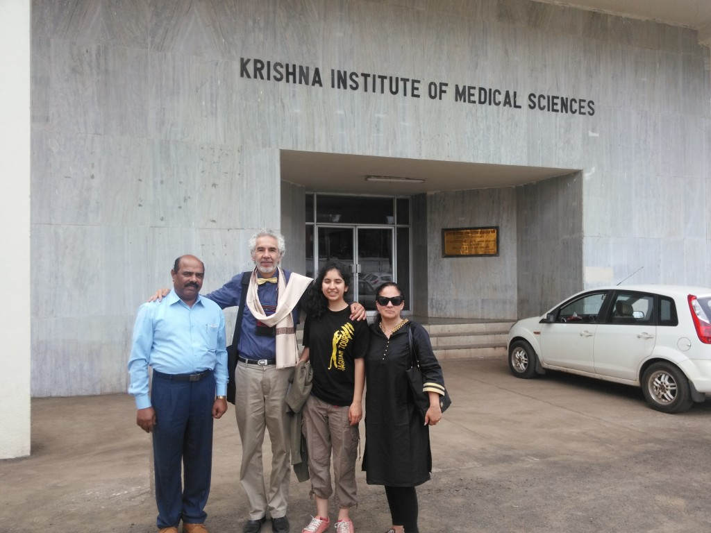 Dr. Arun Patil our excellent coordinator and the Zubietas in Karad, India, after the conference.