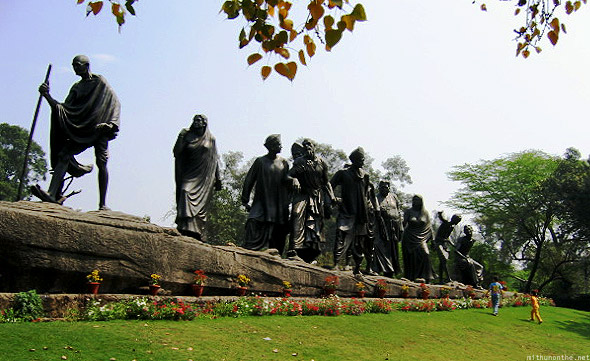 Ghandi statue in Dehli and Agra