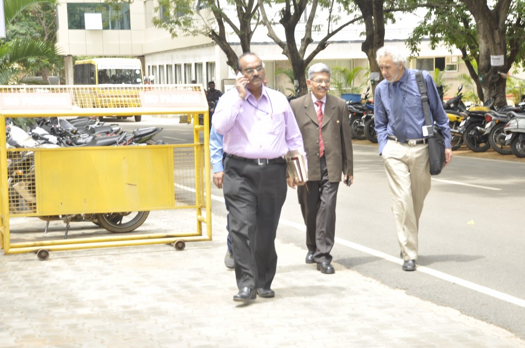 Left to Right: Prof. K.N.Shashidhar , Prof. (Dr) Raghuveer and Prof. Dr. Gustavo Zubieta-Calleja heading to the conference room.