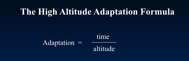 Adaptation formula