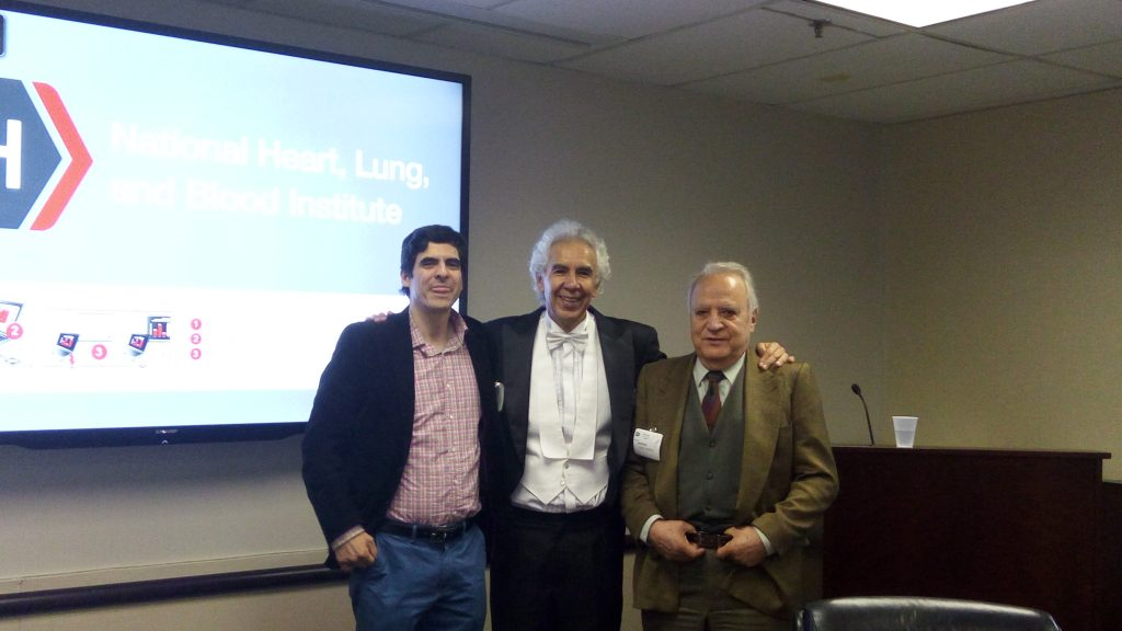 Ricardo Balderrama, Prof. Dr. Gustavo Zubieta-Calleja and Jorge Ordenes, our distinguished guests at the talk.