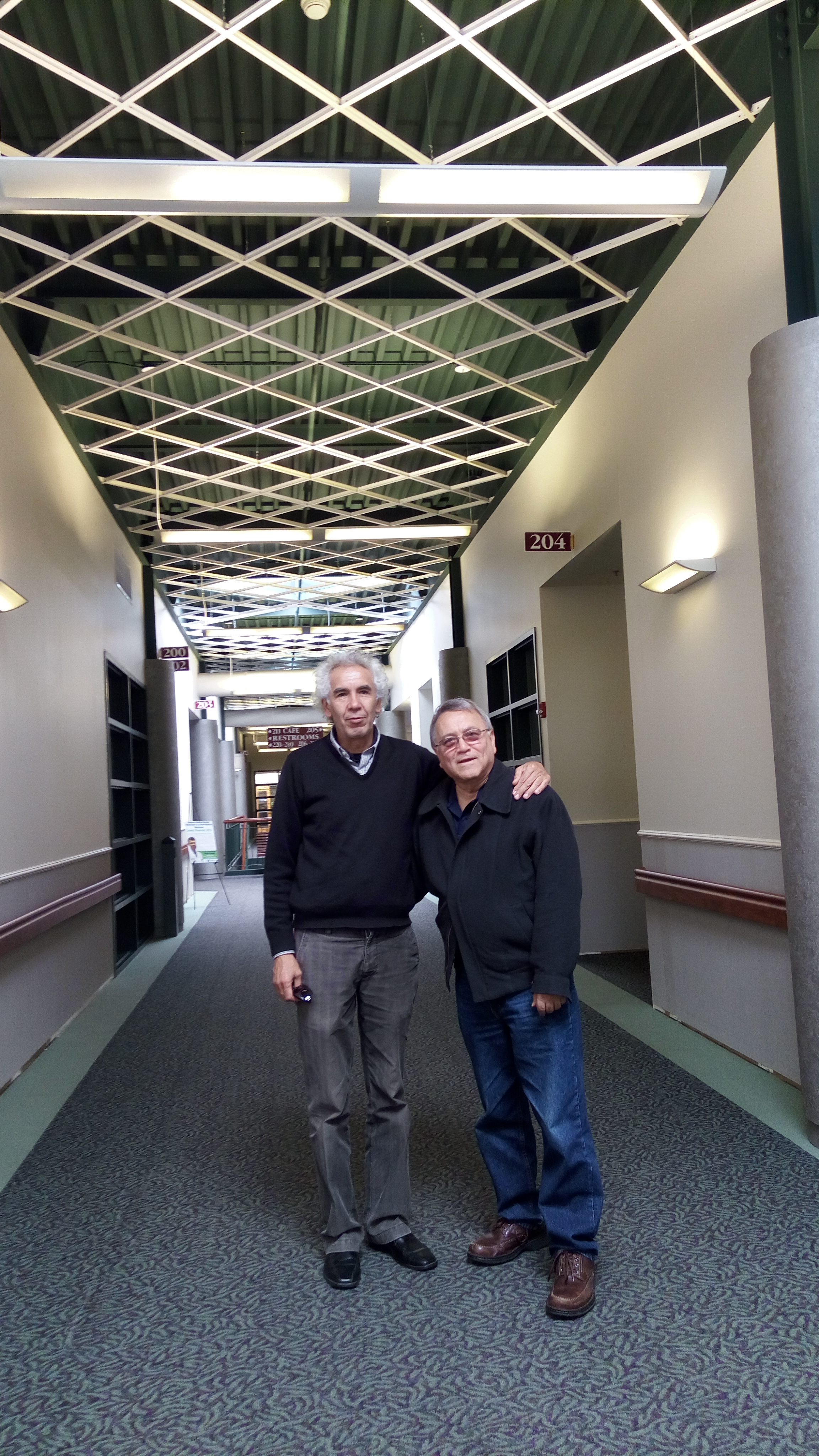 Prof. Dr. Gustavo Zubieta-Calleja and Dr. Oscar Murillo, in the offices he constructed with two colleagues.