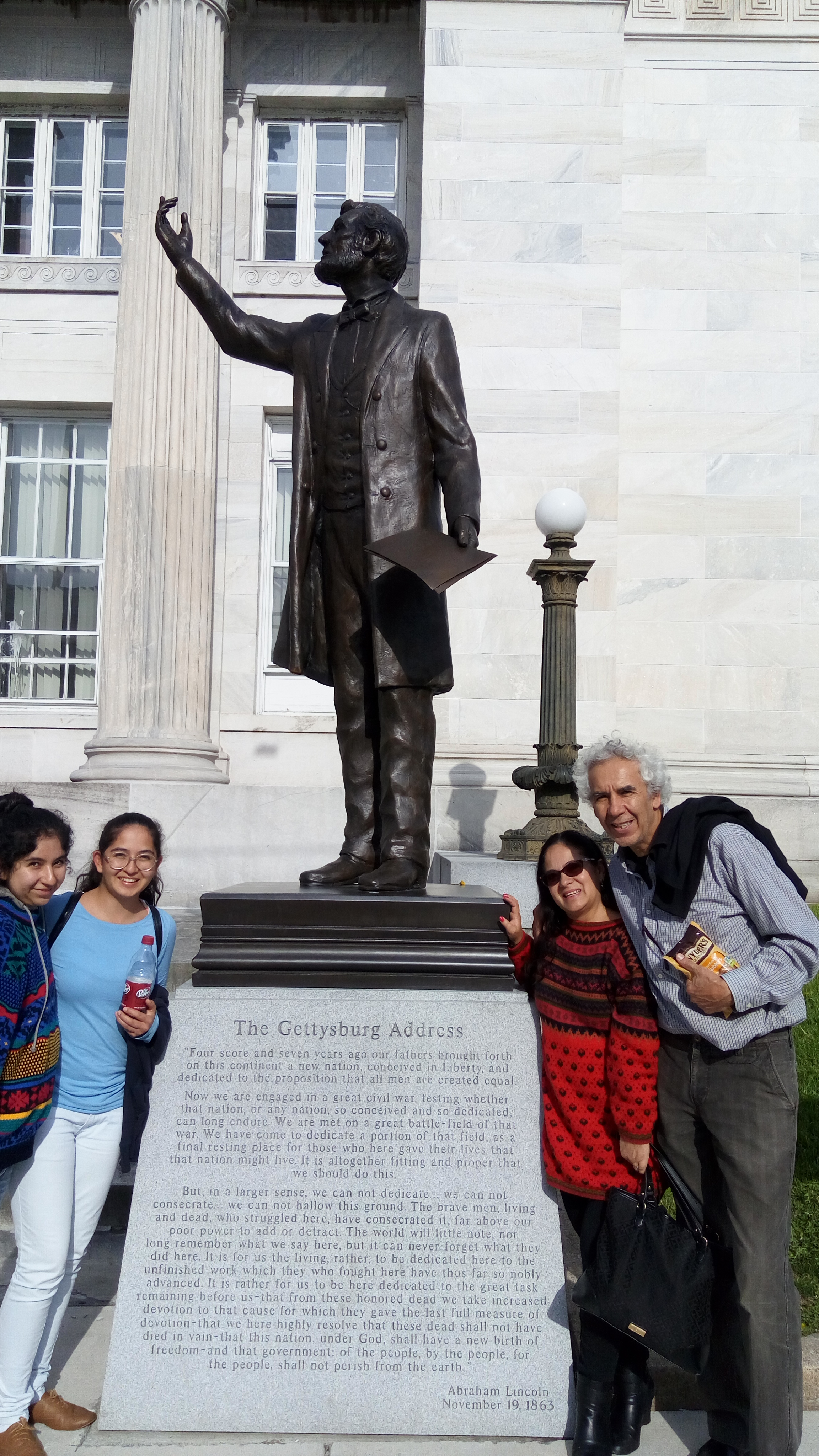 Visiting the historic town of Gettysburg, thanks to Dr. Oscar Murillo and one of his colleagues.
