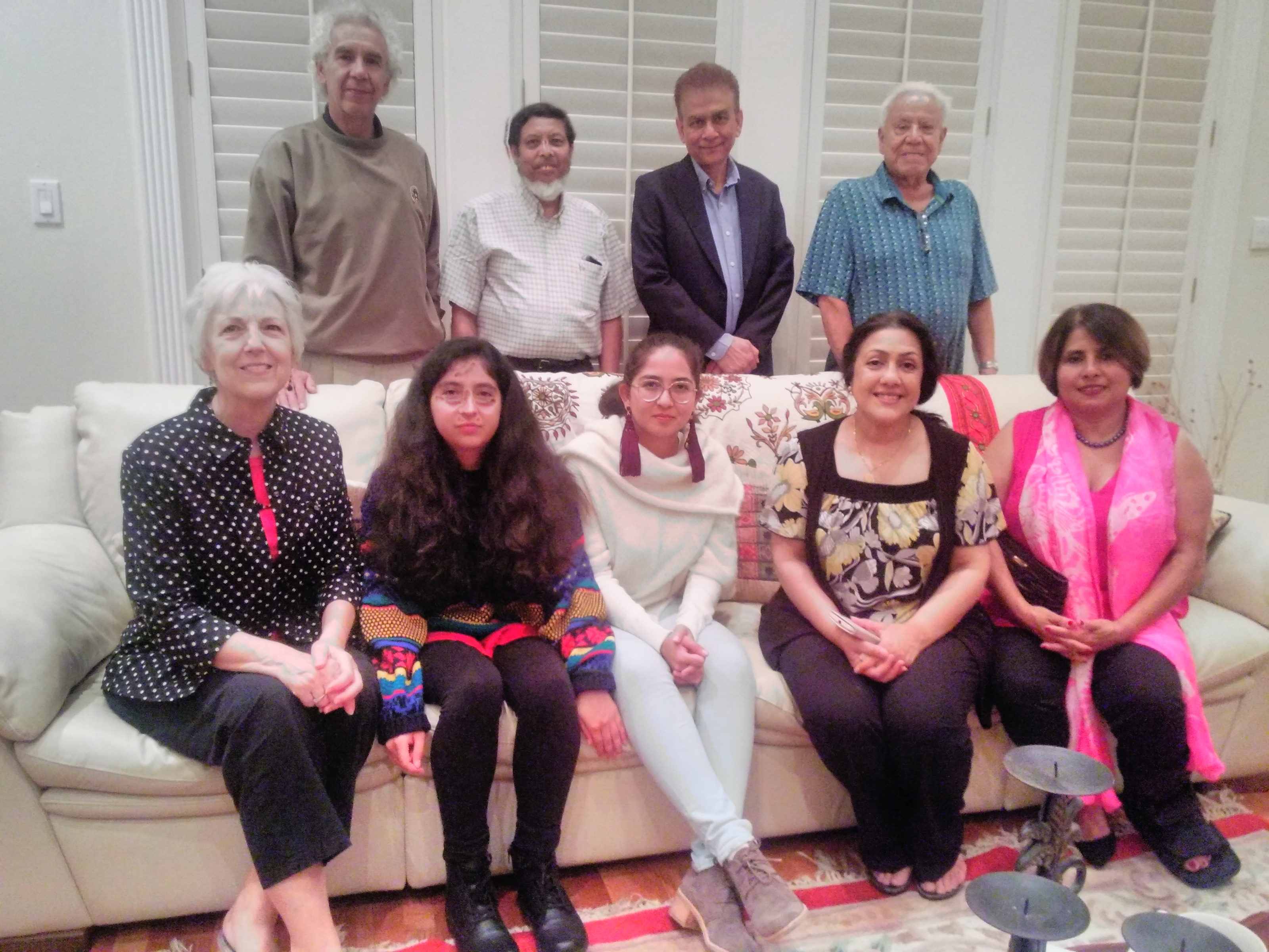 A special dinner was held at Prof. Edwan Mahid's residence in New Orleans. Top row from left: Prof. Zubieta-Calleja, Prof. Edwan Mahid, Daniel from Bangladesh. Prof. Rafael Rubio, Seated from left: Cherry Rubio, Rafaela Zubieta, Dr. Natalia Zubieta DeUrioste, NIna Mahid, Mrs. Daniel