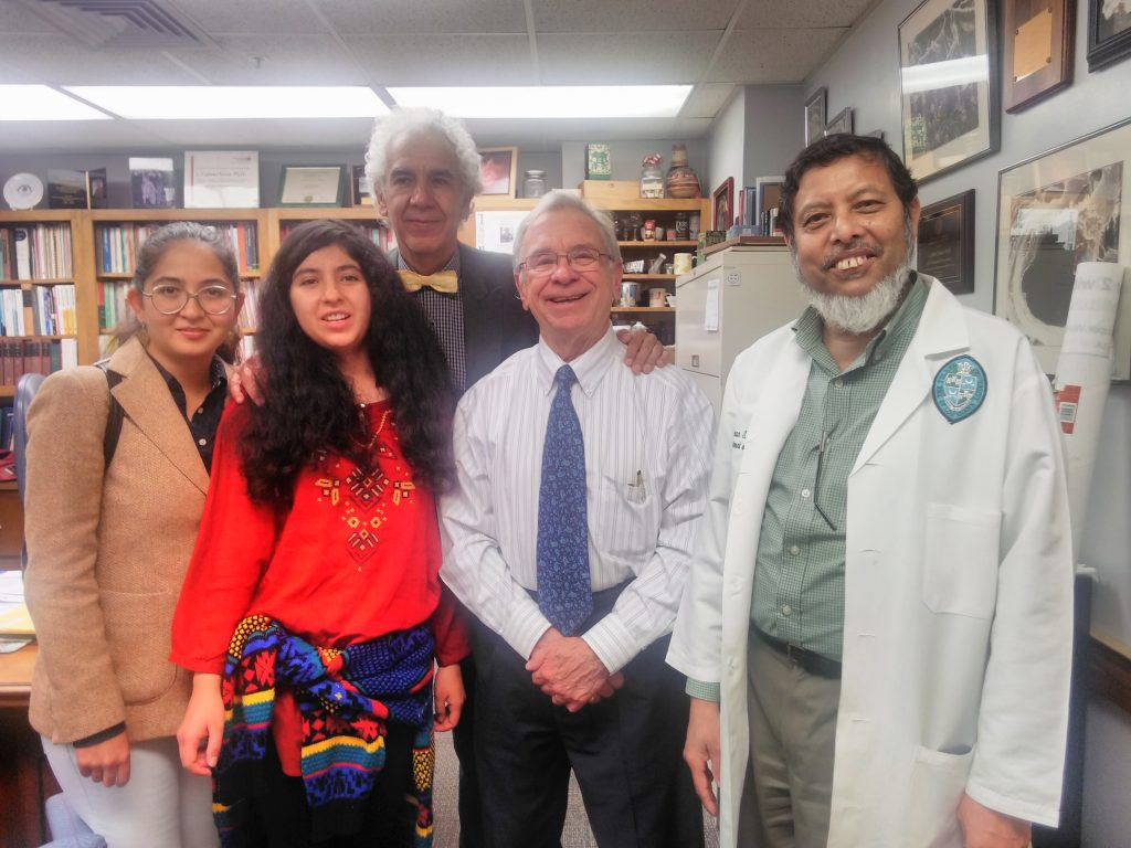 At Prof. Gabriel Navar's office of Head of the Department of Physiology at Tulane Medical School in New Orleans, Louisiana