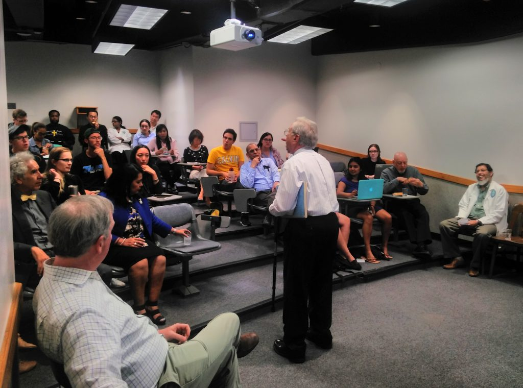 Prof. Navar introducing the seminar to his staff and students at the physiology Department of Tulane in New Orleans, LA. USA