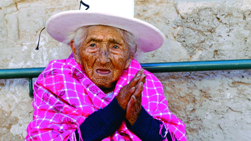 117 year old lady living in Cochabamba, Bolivia 2500m of altitude.